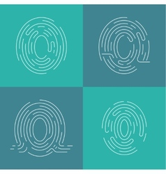 Set of icons fingerprint vector