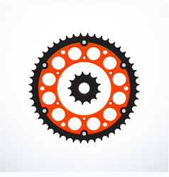 Set of motorcycle sprockets vector
