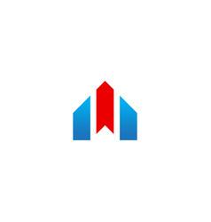 shape line business company logo vector image