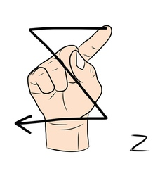Sign language and the alphabetThe Letter z vector image