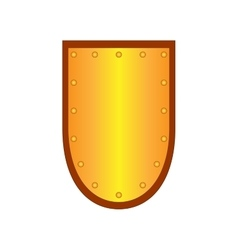 Sign shield gold 1908 vector image