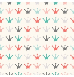 Simple seamless pattern with crown Vintage colors vector image
