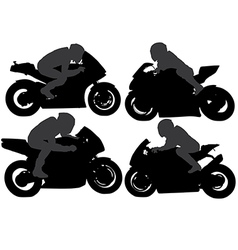 Superbike Silhouette vector image
