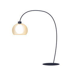 Table lamp with black stand vector