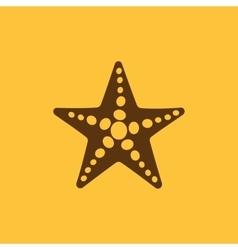 The starfish icon Ocean symbol Flat vector
