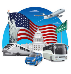 travel in usa vector image
