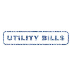 Utility bills textile stamp vector