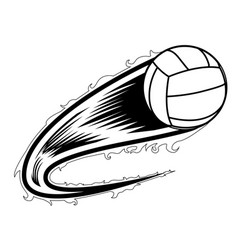 volleyball ball with an effect icon vector image