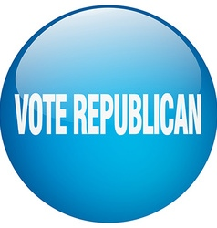 Vote republican blue round gel isolated push vector