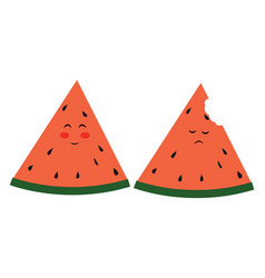 watermelons on white background vector image