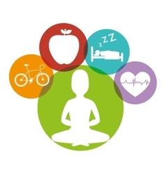 Wellnees healthcare lifestyle vector image
