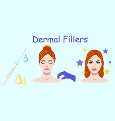 with dermal filler process on vector image