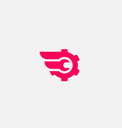 wrench cogwhell logo design abstract modern vector image