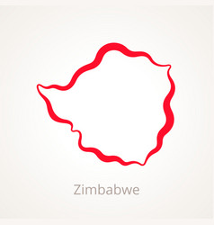 zimbabwe - outline map vector image
