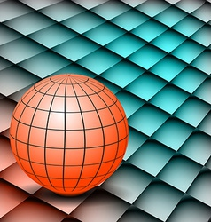 Abstract background Globe on board vector image vector image