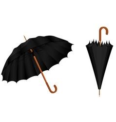 Black umbrellas vector