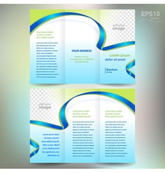 brochure ribbon element band wave line vector image vector image
