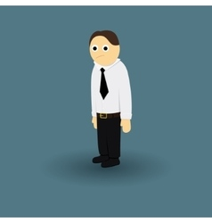 Businessman Office Manager tie and white shirt vector image vector image