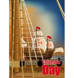 Columbus Day Card vector image vector image