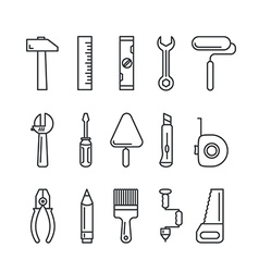 Different industrial equipment tool icons vector image vector image