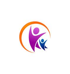 Family care logo swoosh vector