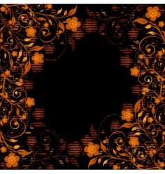 golden floral ornament vector image vector image