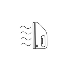 iron and steam icon vector image