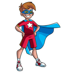 little super boy vector image