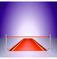 Red carpet with a scarlet ribbon vector image vector image