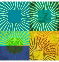 Set Vintage Colored Rays background EPS10 vector image vector image