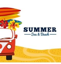 summer holidays enjoy icon vector image vector image