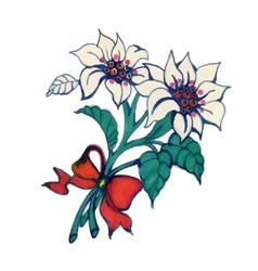 Watercolor Summer Garden Blooming Flower on White vector image vector image
