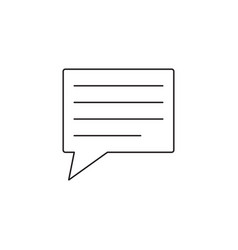 comment line icon speech bubbles graphics vector image