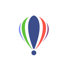 isolated icon of hot air balloon flat design vector image vector image
