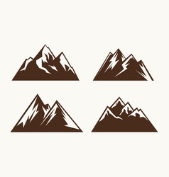 set of mountains for the logo vector image