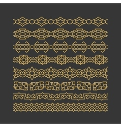 Chinese border ornaments patterns vector image