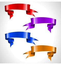 colored ribbon stream vector image vector image
