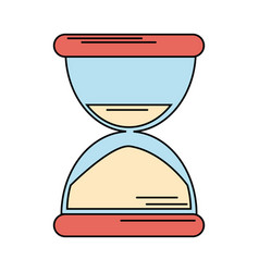 sand clock time icon vector image