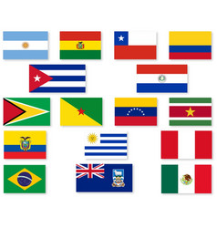 south american flag set vector image