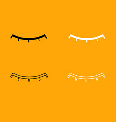 closed eye black and white set icon vector image