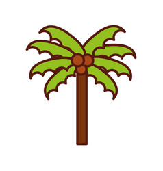 Cute beach palm cartoon vector