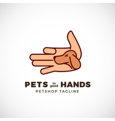 Pet Shop Abstract Emblem or Logo Template vector image