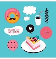 Sweet menu Food Delicious dessert Berry cheesecake vector image
