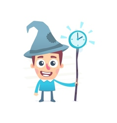 time wizard vector image