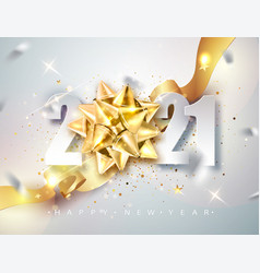 2021 happy new year elegant greeting card vector image