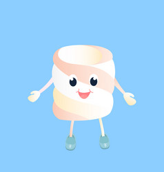 A funny marshmallow cartoon character isolated on vector