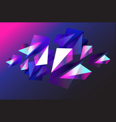 abstract background with geometric objects vector image