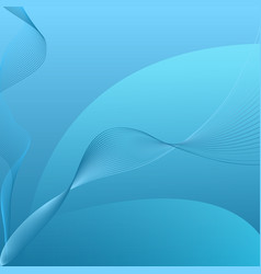 abstract blue curved string background vector image