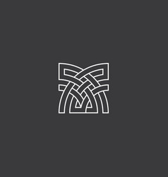 abstract cross element for architecture or vector image