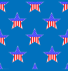 american patriotic stars seamless pattern vector image